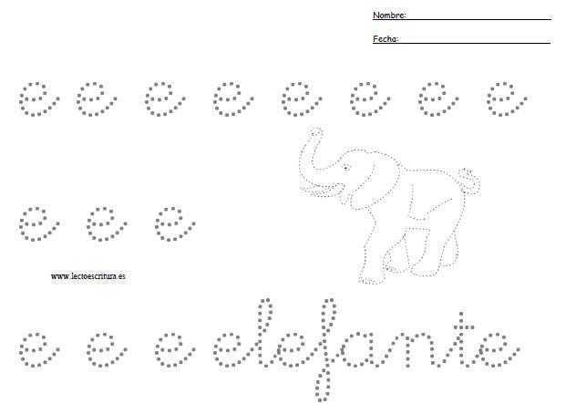 Preescritura  Letra E Min  Scula Punteada  Imprimir Ficha  Formato PDF