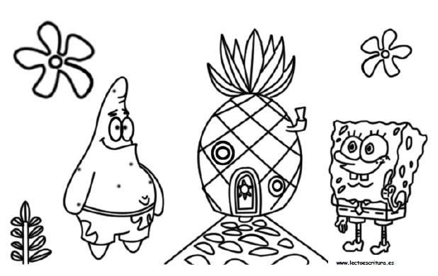 Dibujos De Bob Esponja Bebe Para Colorear: Www.lectoescritura.es. Dibujos Para Pintar Y Colorear