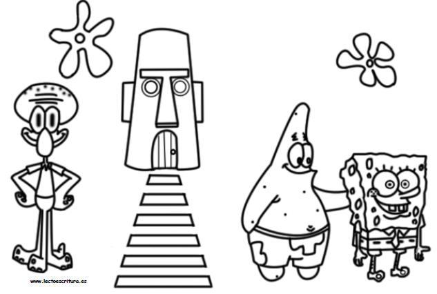 Wwwlectoescrituraes Dibujos Para Pintar Y Colorear Pintar Bob